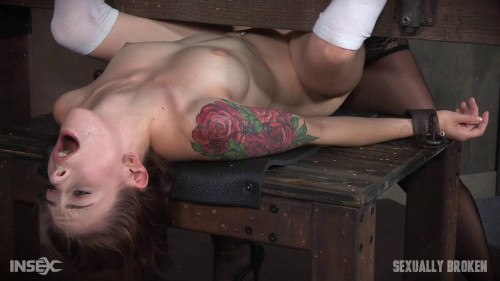 bdsm Anna De Ville sucks cunt and cock while bound and cumming like a common slut
