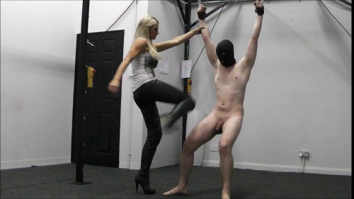 Femdom and Strapon Dont Your Balls Hurt - Elise Ballbusting