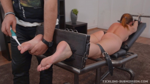 BDSM Gagged hard tickled