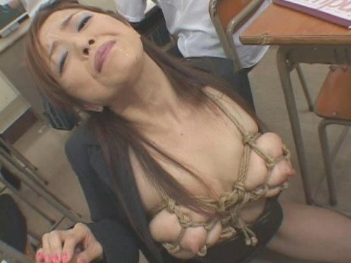 Asians BDSM Big Tits female teacher as a slave pet