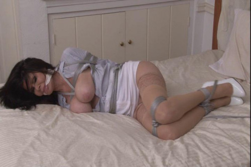 bdsm Bound and Gagged - Secretary Bound on the Bed - Ashley Renee