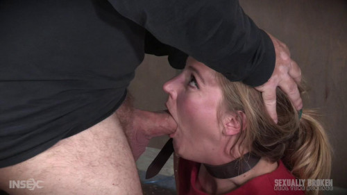 BDSM The warm up, bound down in hard metal and face fucked into subspace