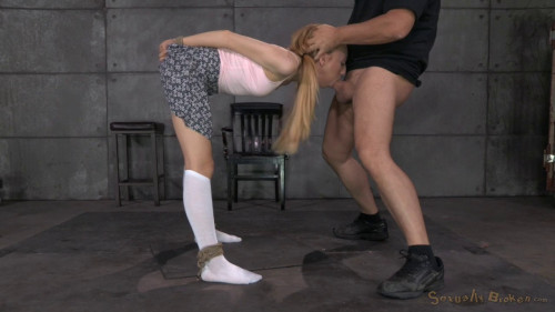 BDSM Tiny Emma Haize Gets Tightly Bound And Fucked