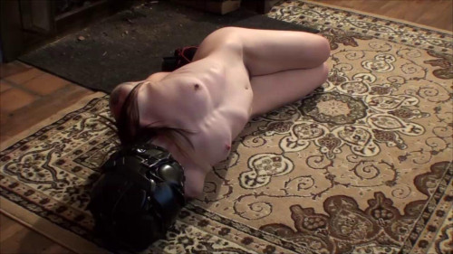 bdsm TB - Natalie Hogtied Hooded Used