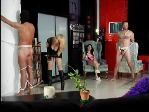 Femdom and Strapon Mommy s Little Ball Buster