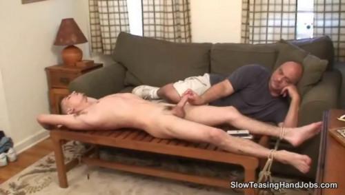 Gay BDSM Slow Teasing Handjobs - Distracted Handjob