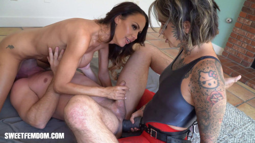 Femdom and Strapon Giant Strap On and a New Rug 1080p