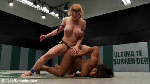 Femdom and Strapon US welcomes a new rookie with great potential. 18yr Yasmine is strong, has huge tits & some skill!