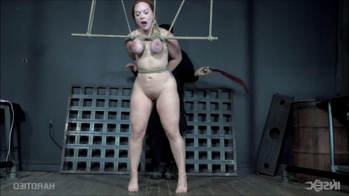 BDSM Tight bondage, hogtie, strappado and torture for sexy bitch part 2