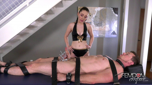 Femdom and Strapon Cock Milker 3500X