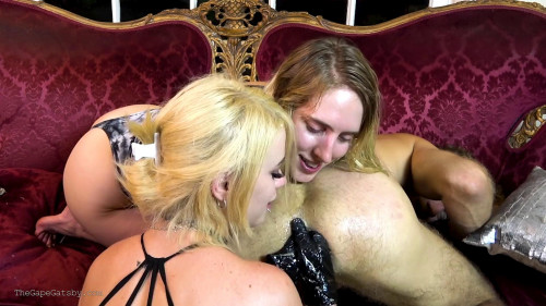 Femdom and Strapon Girlfriends Double Fist