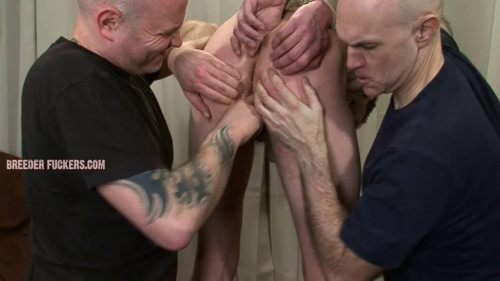 Gay BDSM Anal hook for Aiden