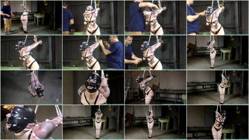 BDSM Drusilla in a ZipTie Strappado - Part 3