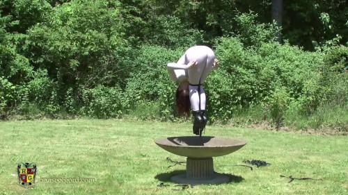 BDSM Butt Thrusting Fountain Girl