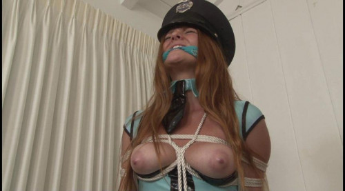 bdsm Bound and Gagged - LadyCop in Ropes - Miss Farrah Flower
