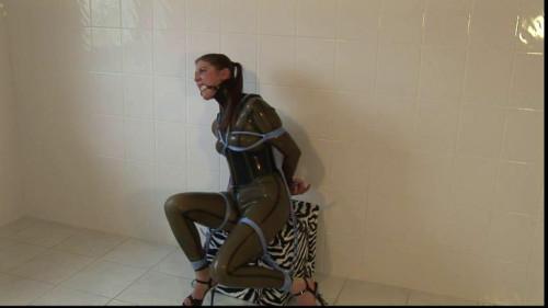BDSM Latex Toaxxx - Sexy Rubber Slave Julia Power part 1