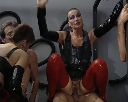 Femdom and Strapon A human toilet pan