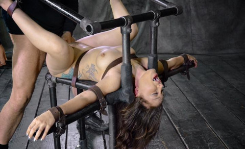 BDSM Petite Gabriella Paltrova suffers extreme deepthroating, brutal fucking for you