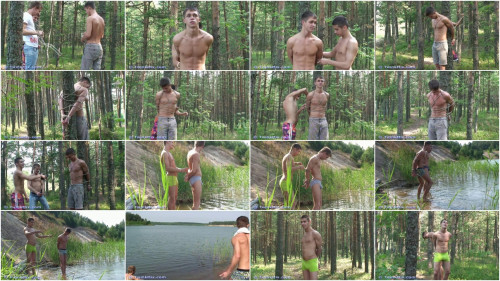 Gay BDSM Forest Fun Video