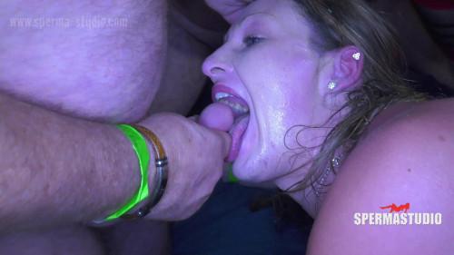 Spermarie and Lucky - Gangbang