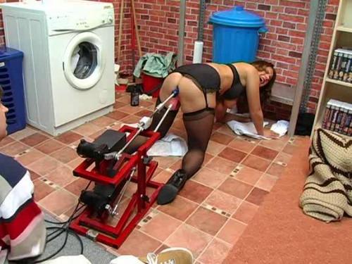 Sex Machines Hausfrauen Maschinell Befriedigt