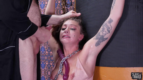 Leah Winters chained by this perv man