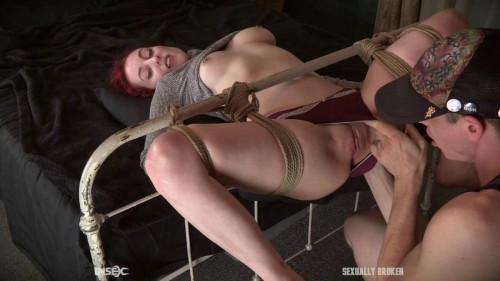 BDSM Hot girl loses her virginity in bondage