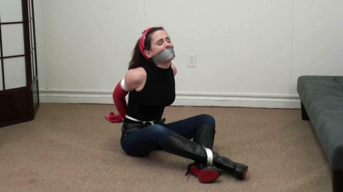 bdsm Tilly Tapegagged and BootBound Part One