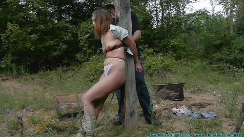 BDSM Punishing Outdoor Bondage for Rachel 5 part - Extreme, Bondage, Caning