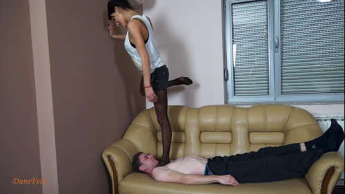 Femdom and Strapon New Friends 4 Throat Standing - Mona - HD 720p