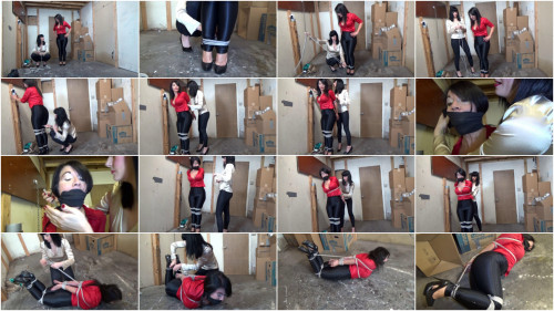 BDSM Thieving Warehouse Manager Left Tightly Hogtied