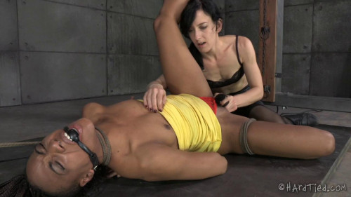BDSM HT - Nikki Darling and Elise Graves - My Time In The Barrel - HD