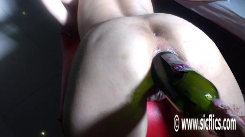 Fisting and Dildo Marias anal wine bottle fuck (2017)