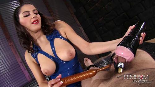 Femdom and Strapon Valentina Nappi - Valentina Chastity
