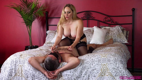 Femdom and Strapon Unsatisfied Wife Treats Herself to Fabulously Huge Cock