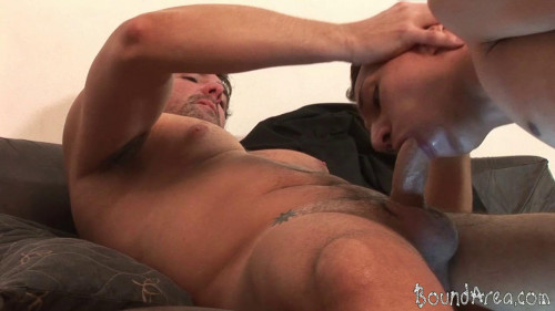Gay BDSM Old-on-Young Screwing With a Gay Bondage Twist
