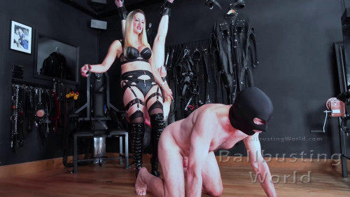 Femdom and Strapon Ballbusting Training Day - Mistress Nikki Whiplash - Full Hd 1080p
