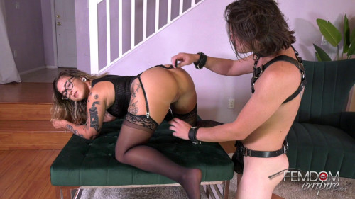 Femdom and Strapon Pussy Whipped Pleaser
