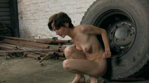 BDSM naked slave punish