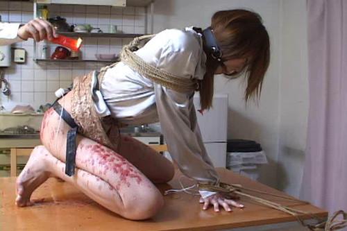 Asians BDSM Waxing bondage