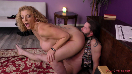 Femdom and Strapon Mean Bitch Boss Sara Jay
