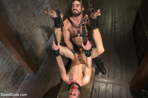 Gay BDSM New sub endures bamboo torture!