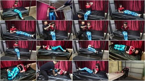 BDSM ShinysBoundSluts - Natalie Mars Tied Up in Spandex Disco Jeans