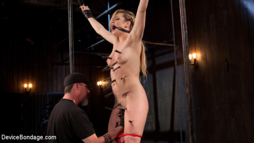 bdsm Sexy Blonde Whore is Brutalized in Grueling Bondage