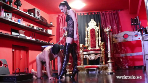 Femdom and Strapon Boot Domination And Fresh Slaves Milk -best femdom porn