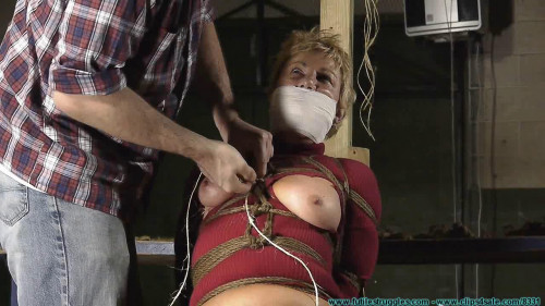 BDSM Alices First Ever Hogtie - Extreme, Bondage, Caning