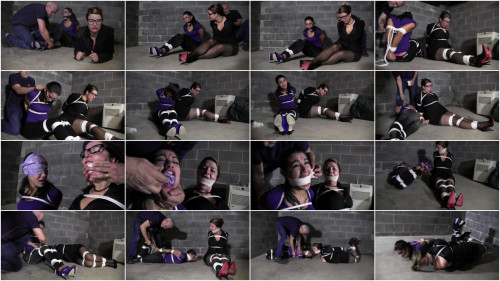 BDSM JJ Plush & Sahrye- tied up with the Baby Sitter
