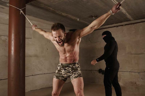 Gay BDSM RusCapturedBoys Training for Commando Stas. Part II