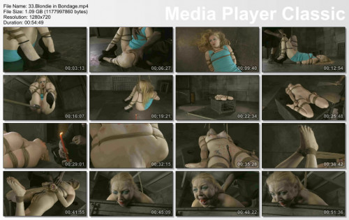 bdsm Sexy Blondie in Bondage