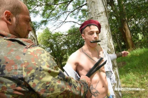 Gay BDSM GWarGames - Libor and Jerome - Boy with Knife part 1
